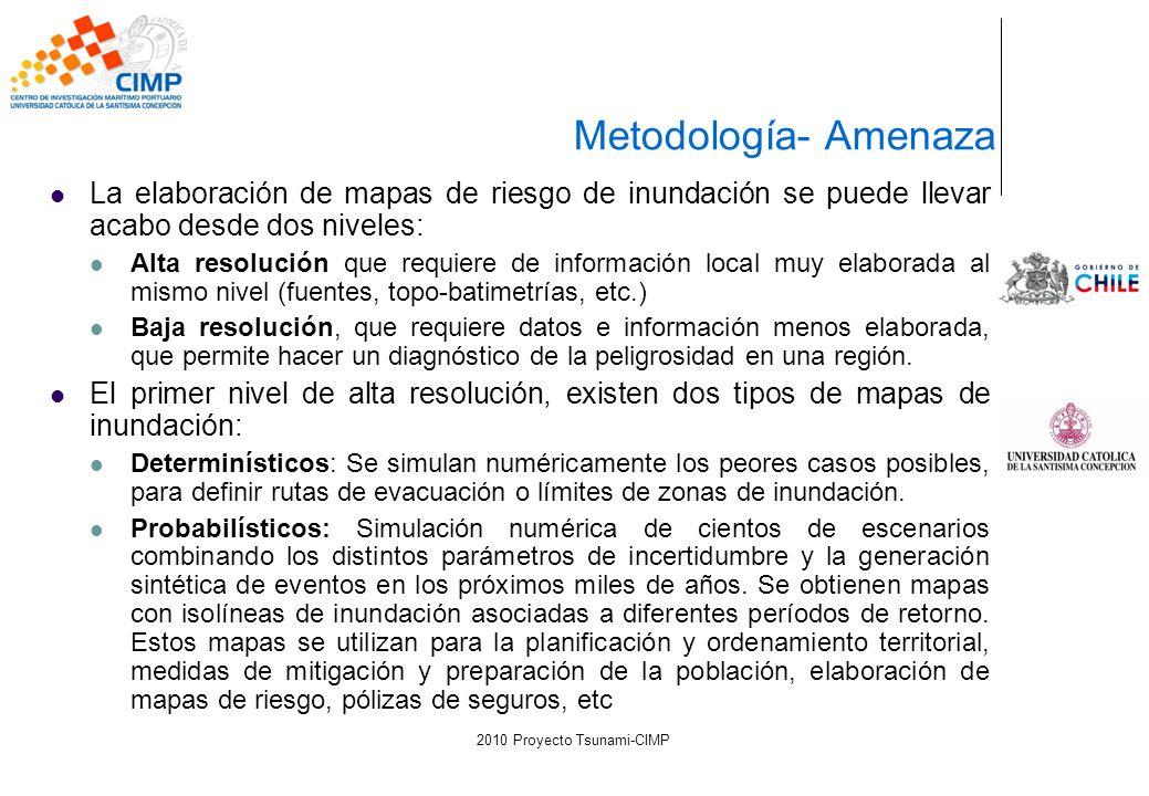 La elaboración de mapas de riesgo de inundación se puede llevar acabo desde dos niveles: Alta resolución que requiere de información local muy elabora