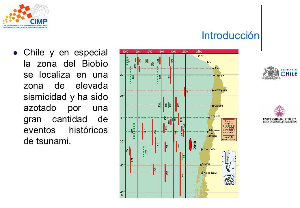 Chile y en especial la zona del Biobío se localiza en una zona de elevada sismicidad y ha sido azotado por una gran cantidad de eventos históricos de