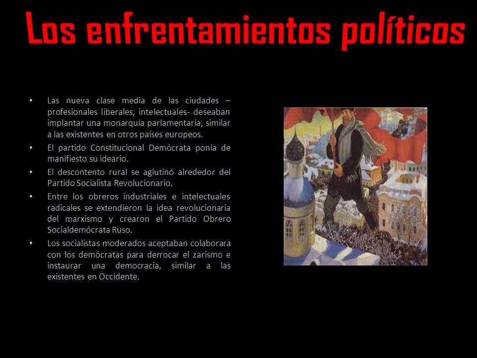 Las nueva clase media de las ciudades – profesionales liberales, intelectuales- deseaban implantar una monarquía parlamentaria, similar a las existentes en otros países europeos.