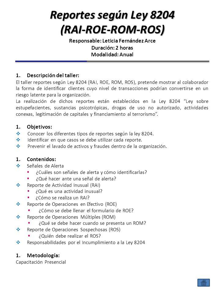 1.Descripción del taller: El taller de políticas KYC Conozca a su Cliente y KYE Conozca a su Colaborador, contiene un marco teórico que sirve de apoyo