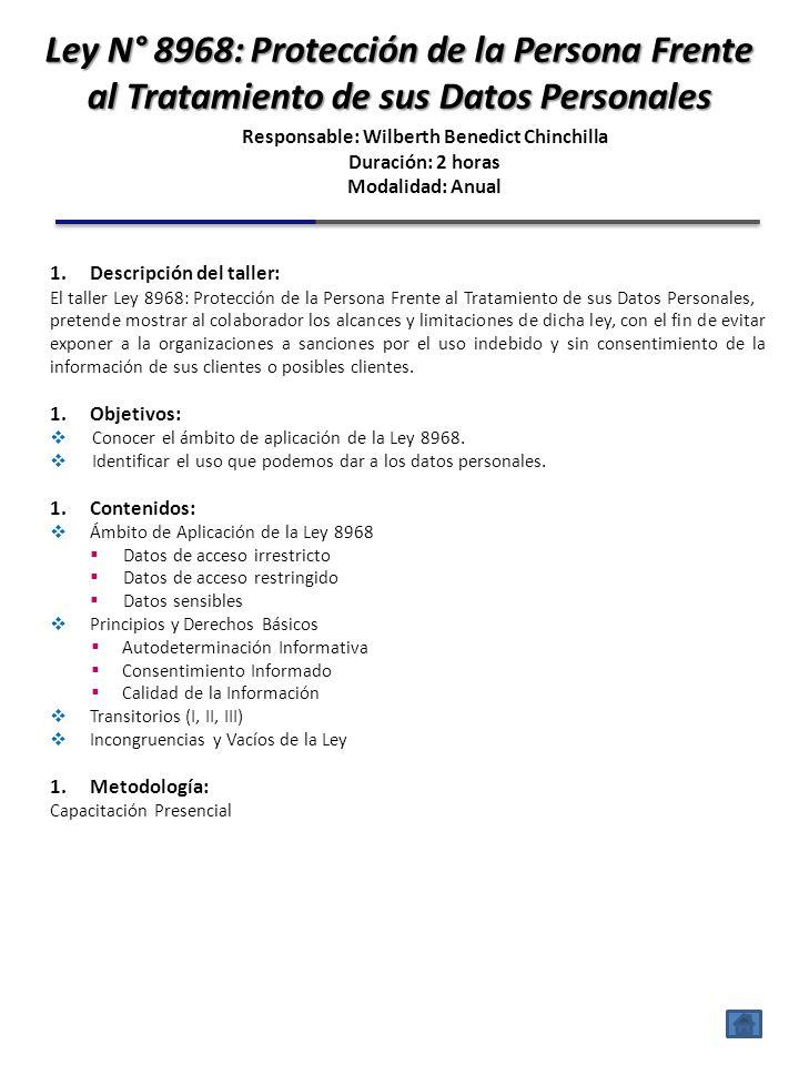 1.Descripción del taller: El taller de Clientes PEP´S y bloqueados por OFAC, busca que los colaboradores de la organización mediante el conocimiento e