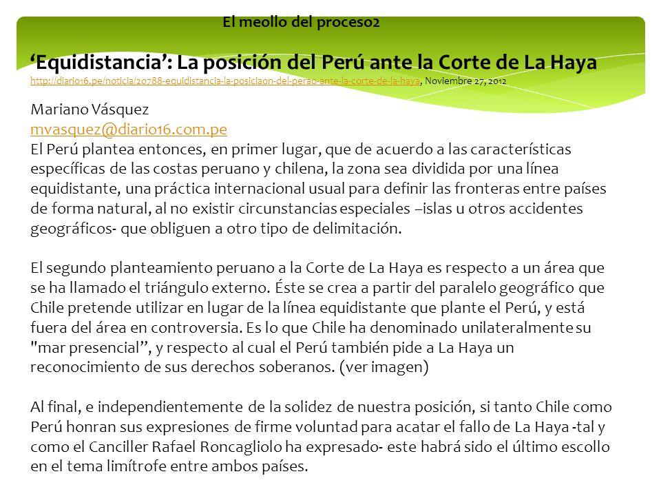 Equidistancia: La posición del Perú ante la Corte de La Haya http://diario16.pe/noticia/20788-equidistancia-la-posiciaon-del-perao-ante-la-corte-de-la