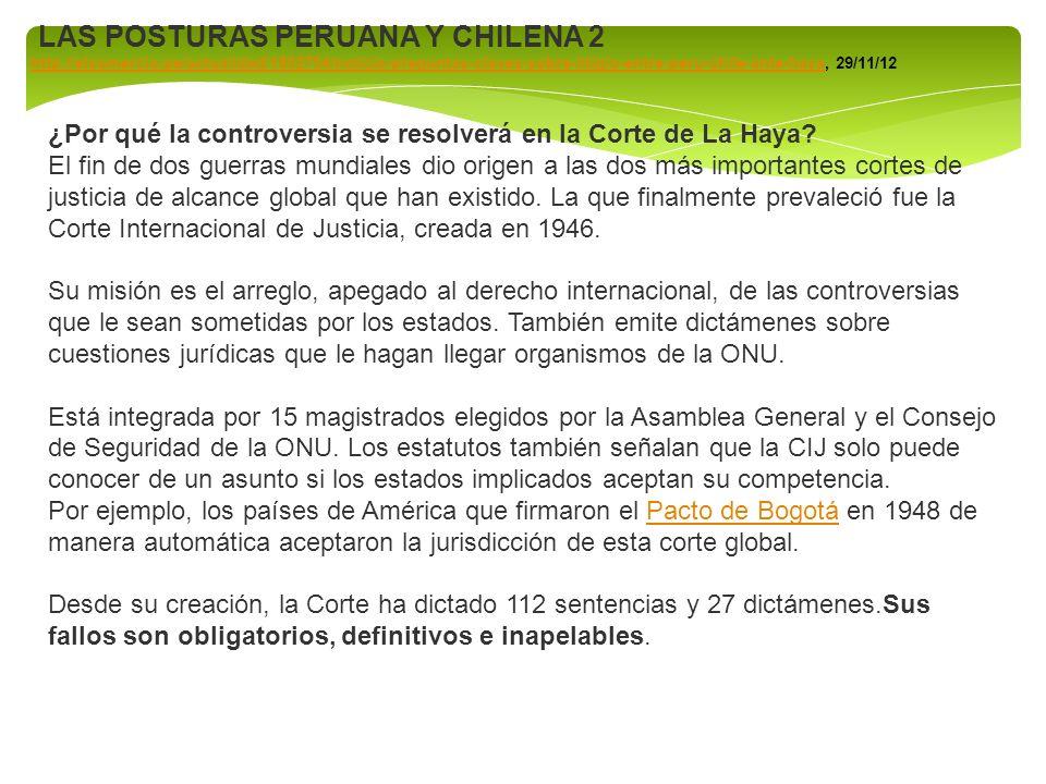 http://www.larepublica.pe/11-12-2012/la-haya-chile-tuerce-el-derecho Javier Diez Canseco: Sí, ellos tienen un control fáctico, de hecho, pero saben que la posesión impuesta no engendra derechos de soberanía.