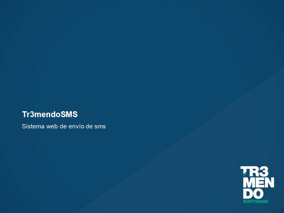 Tr3mendoSMS Sistema web de envío de sms