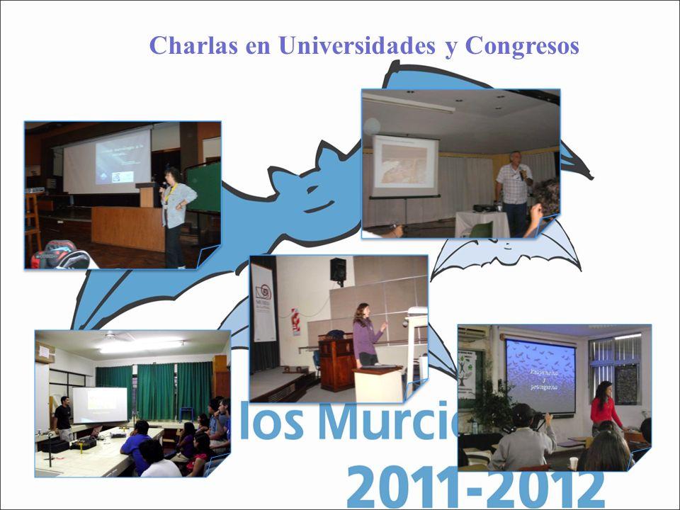 Charlas en Universidades y Congresos