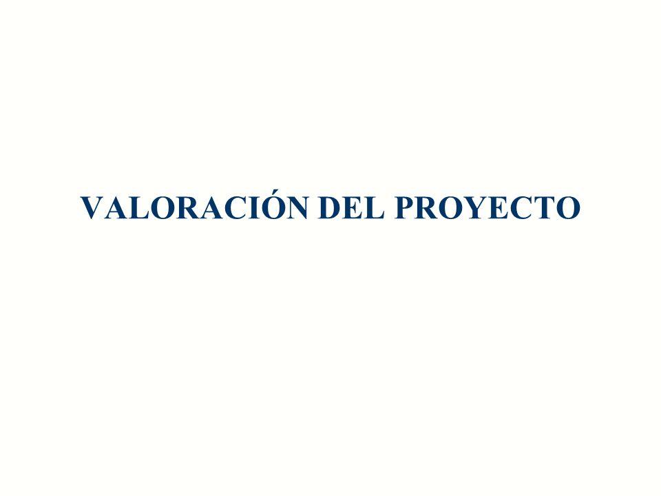 VALORACIÓN DEL PROYECTO