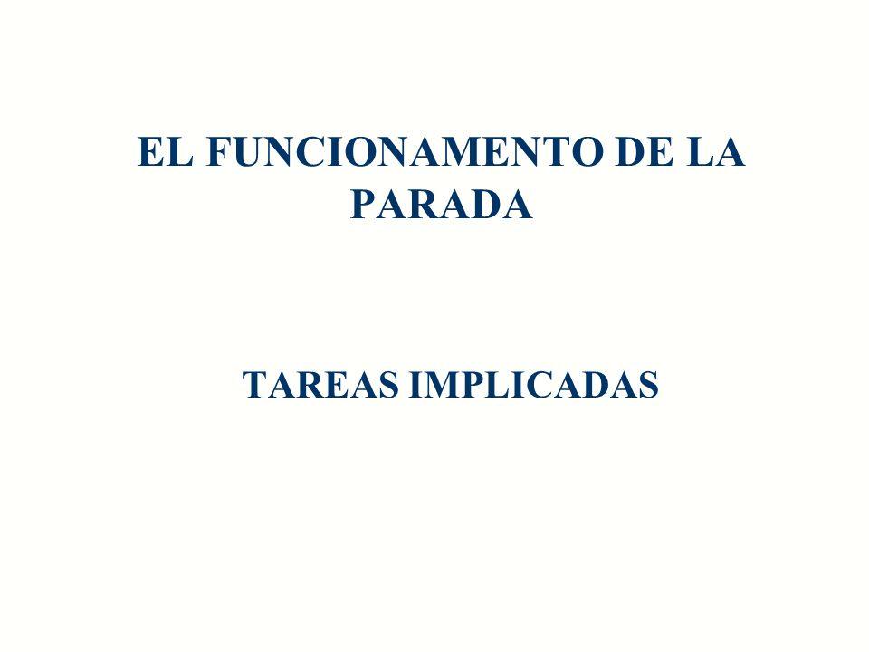 EL FUNCIONAMENTO DE LA PARADA TAREAS IMPLICADAS