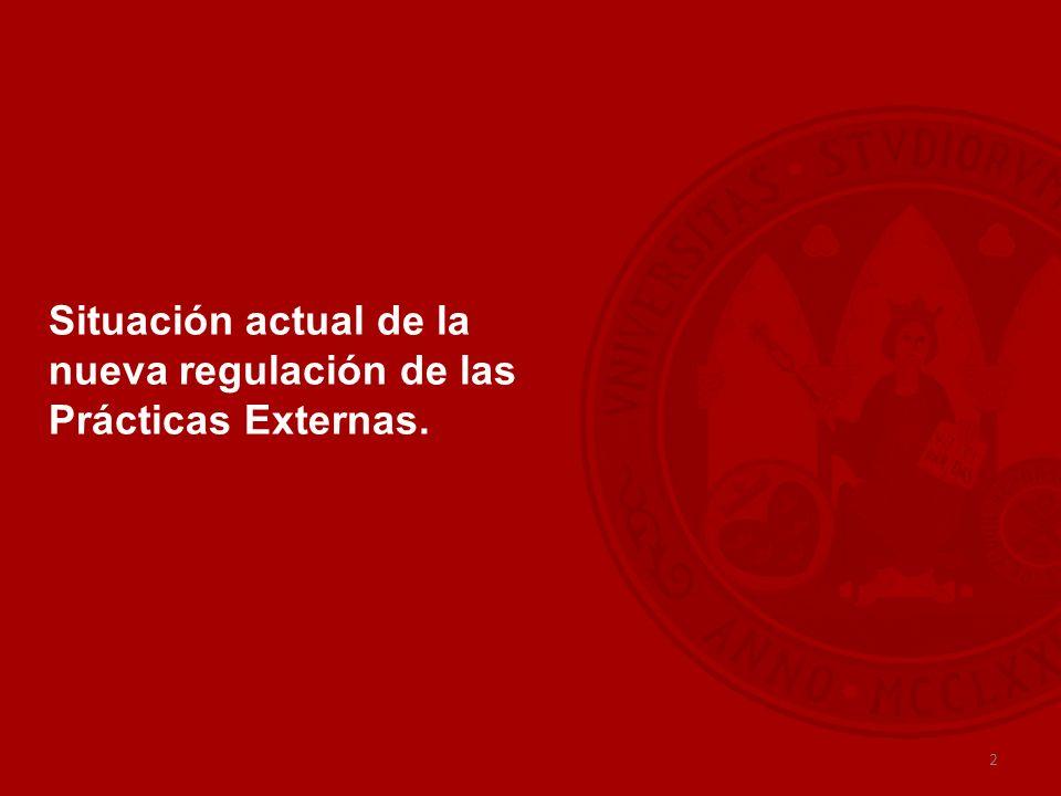 2 Situación actual de la nueva regulación de las Prácticas Externas.