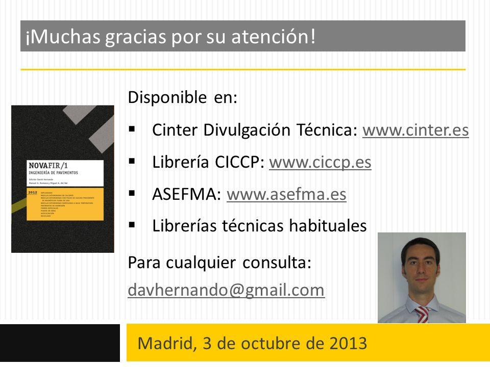 Madrid, 3 de octubre de 2013 Despedida