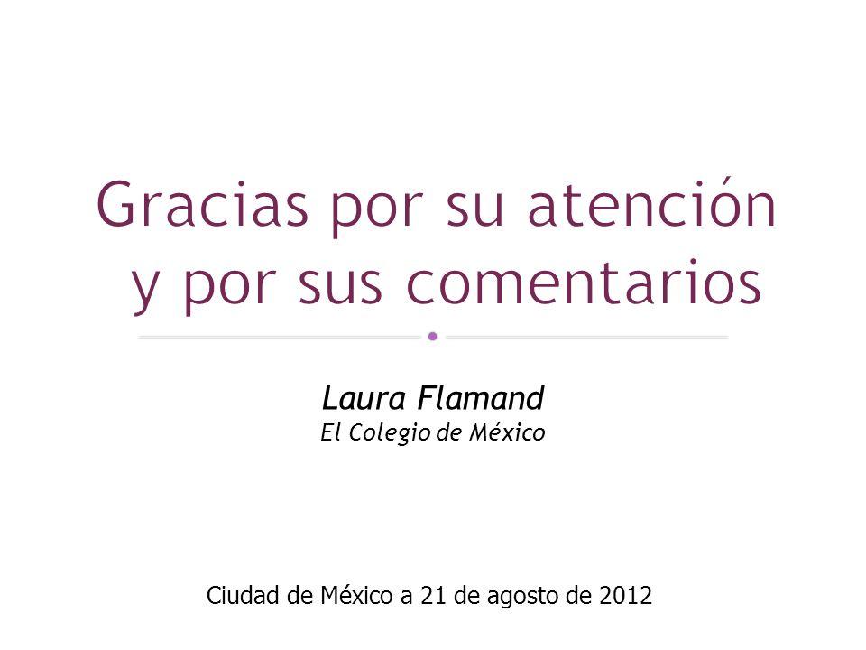 Laura Flamand El Colegio de México Ciudad de México a 21 de agosto de 2012