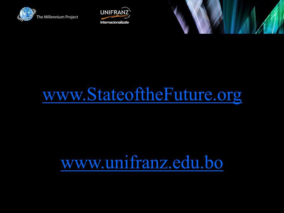 www.StateoftheFuture.org www.unifranz.edu.bo
