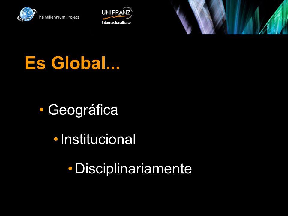 Es Global... Geográfica Institucional Disciplinariamente