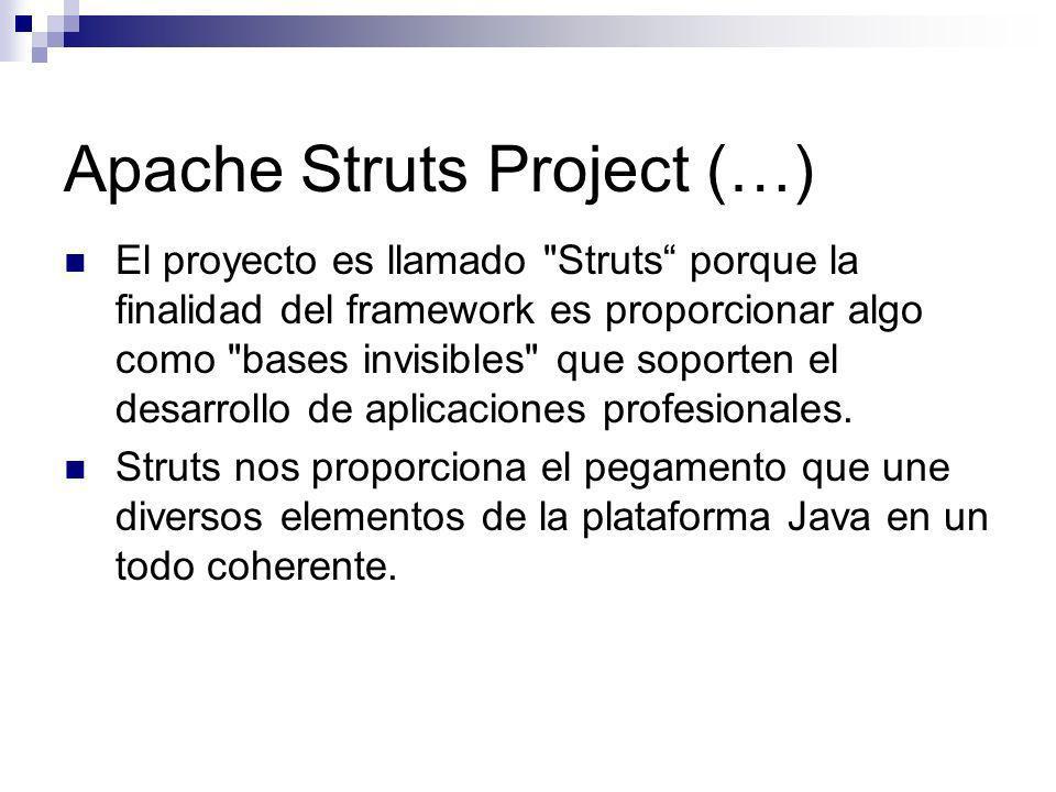 Apache Struts Project (…) El proyecto es llamado
