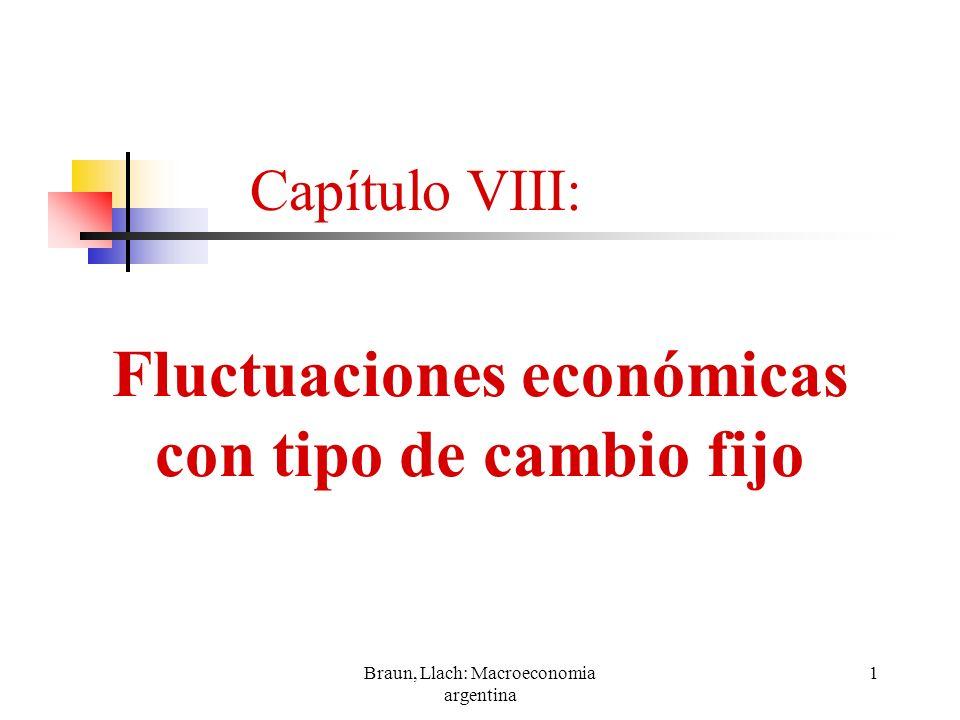 Braun, Llach: Macroeconomia argentina 22 Mejora en la productividad Capítulo VIII: Fluctuaciones económicas con tipo de cambio fijo