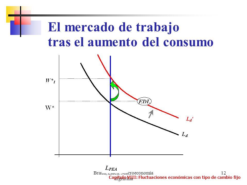 Braun, Llach: Macroeconomia argentina 12 El mercado de trabajo tras el aumento del consumo Capítulo VIII: Fluctuaciones económicas con tipo de cambio