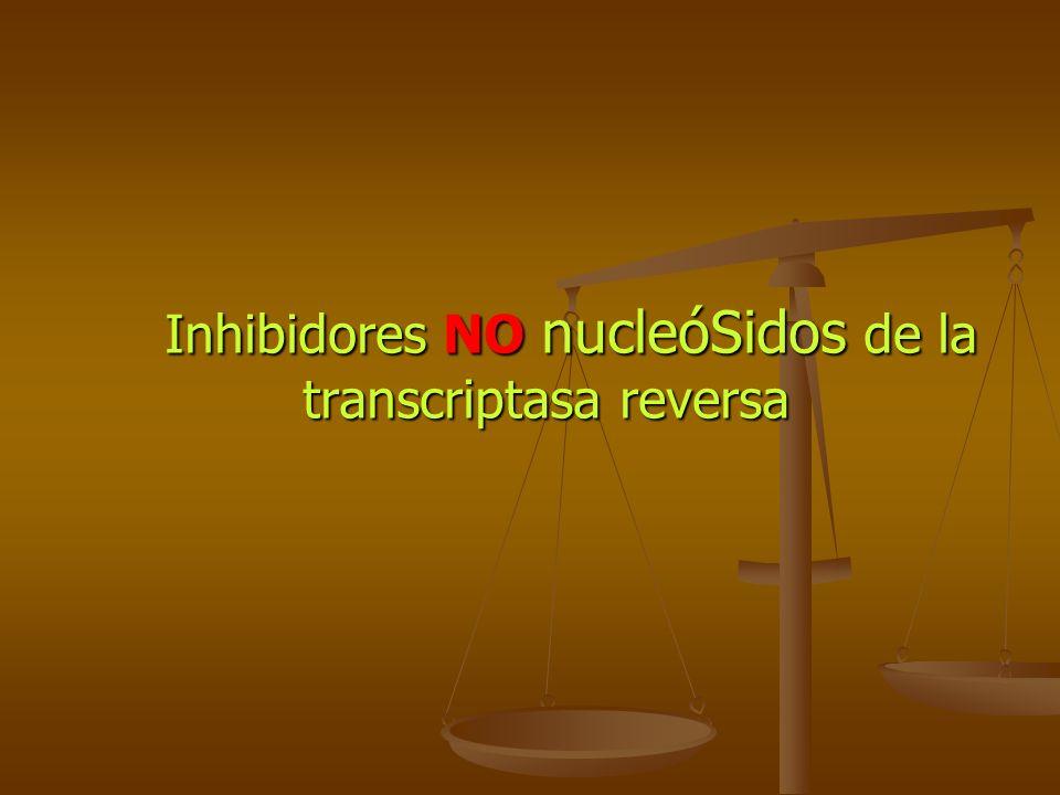Inhibidores NO nucleóSidos de la transcriptasa reversa Inhibidores NO nucleóSidos de la transcriptasa reversa