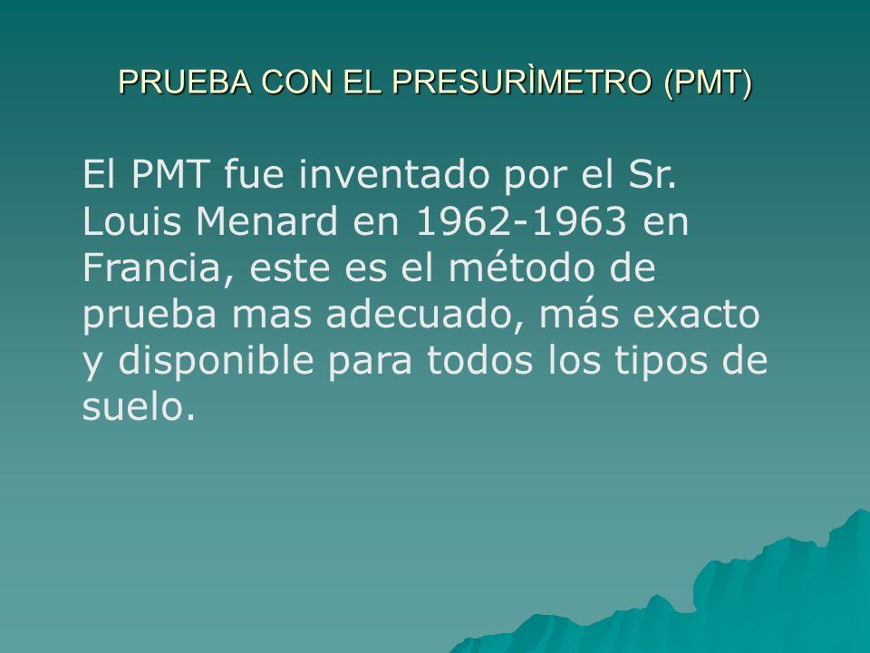 PRUEBA CON EL PRESURÍMETRO (PMT)