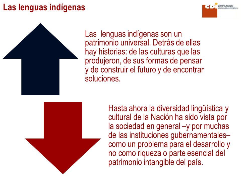 Las lenguas indígenas son un patrimonio universal. Detrás de ellas hay historias: de las culturas que las produjeron, de sus formas de pensar y de con