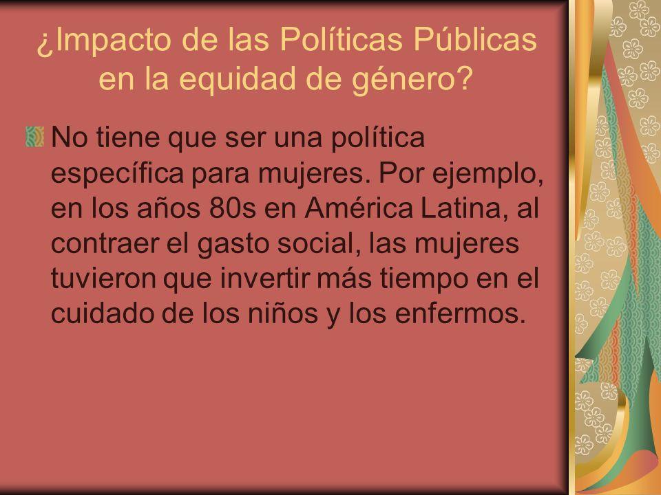 Antecedentes de PP con Perspectiva de Género en México 1980.
