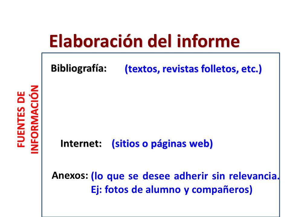 FUENTES DE INFORMACIÓN (sitios o páginas web) (lo que se desee adherir sin relevancia.