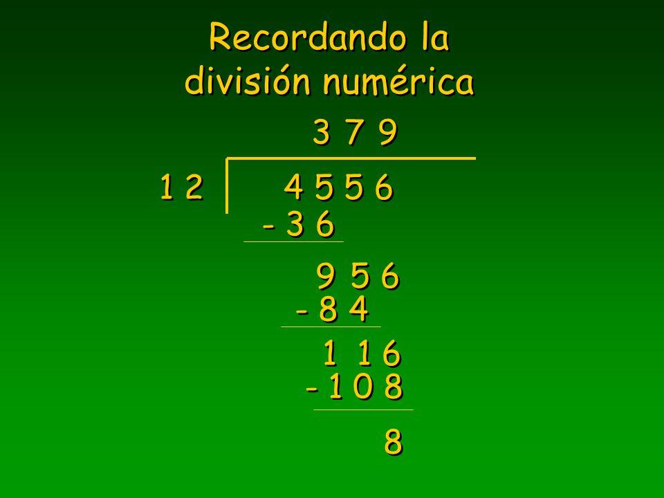 División de polinomios ¿ cuál es el siguiente paso ? Ejercicios