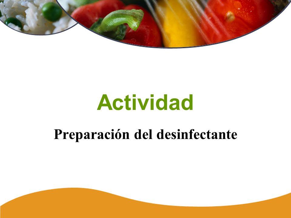 Actividad Preparación del desinfectante