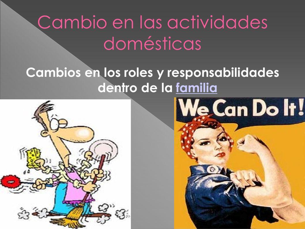 Cambio en las actividades domésticas Cambios en los roles y responsabilidades dentro de la familiafamilia