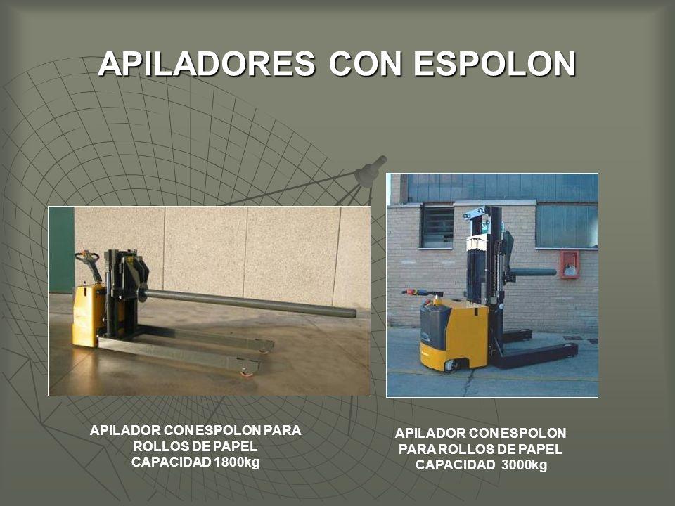 APILADORES CON ESPOLON APILADOR CON ESPOLON PARA ROLLOS DE PAPEL CAPACIDAD 1800kg APILADOR CON ESPOLON PARA ROLLOS DE PAPEL CAPACIDAD 3000kg