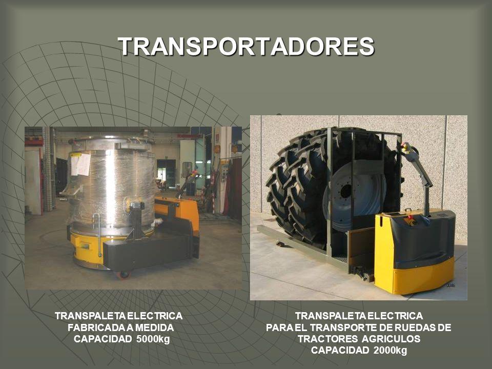 TRANSPORTADORES TRANSPALETA ELECTRICA FABRICADA A MEDIDA CAPACIDAD 5000kg TRANSPALETA ELECTRICA PARA EL TRANSPORTE DE RUEDAS DE TRACTORES AGRICULOS CAPACIDAD 2000kg