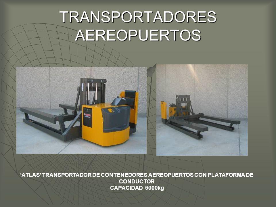TRANSPORTADORES AEREOPUERTOS ATLAS TRANSPORTADOR DE CONTENEDORES AEREOPUERTOS CON PLATAFORMA DE CONDUCTOR CAPACIDAD 6000kg