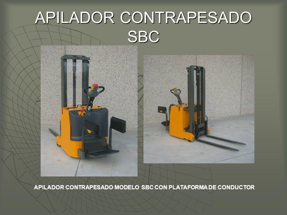 APILADOR CONTRAPESADO SBC APILADOR CONTRAPESADO MODELO SBC CON PLATAFORMA DE CONDUCTOR