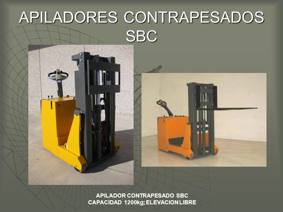 APILADORES CONTRAPESADOS SBC APILADOR CONTRAPESADO SBC CAPACIDAD 1200kg; ELEVACION LIBRE