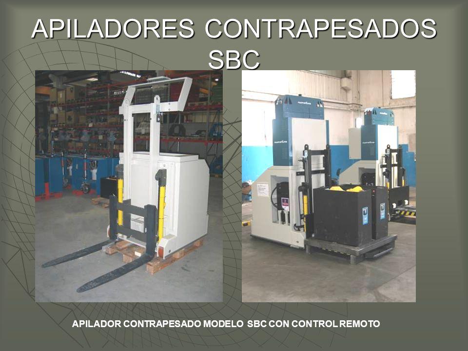 APILADORES CONTRAPESADOS SBC APILADOR CONTRAPESADO MODELO SBC CON CONTROL REMOTO