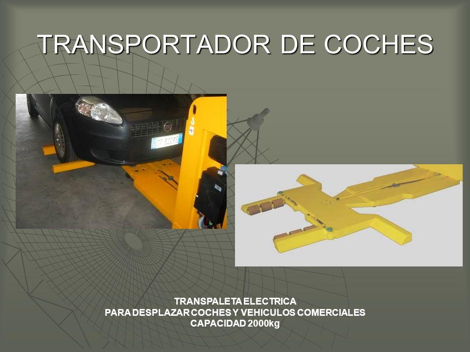 TRANSPORTADOR DE COCHES TRANSPALETA ELECTRICA PARA DESPLAZAR COCHES Y VEHICULOS COMERCIALES CAPACIDAD 2000kg