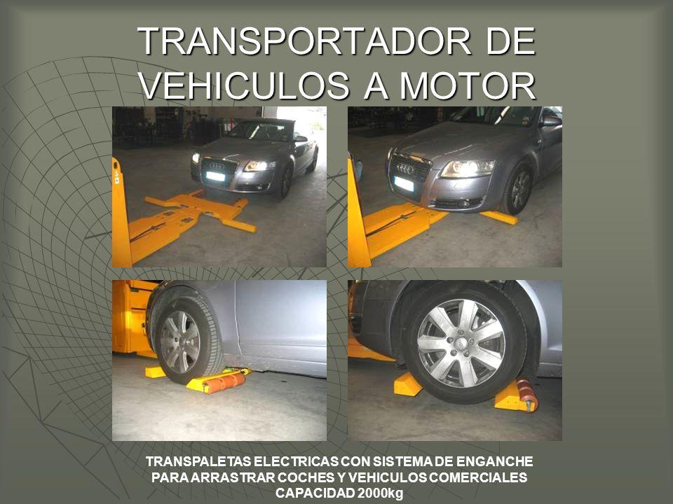 TRANSPORTADOR DE VEHICULOS A MOTOR TRANSPALETAS ELECTRICAS CON SISTEMA DE ENGANCHE PARA ARRASTRAR COCHES Y VEHICULOS COMERCIALES CAPACIDAD 2000kg