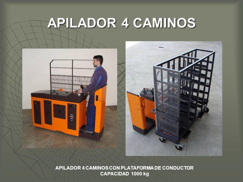 APILADOR 4 CAMINOS APILADOR 4 CAMINOS CON PLATAFORMA DE CONDUCTOR CAPACIDAD 1000 kg