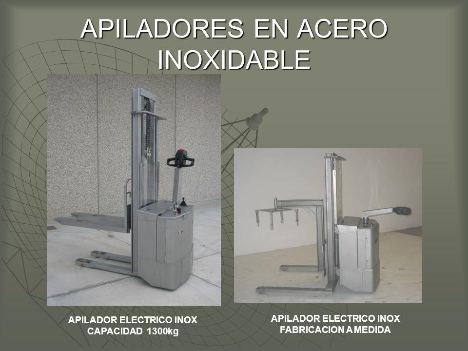 APILADORES EN ACERO INOXIDABLE APILADOR ELECTRICO INOX CAPACIDAD 1300kg APILADOR ELECTRICO INOX FABRICACION A MEDIDA