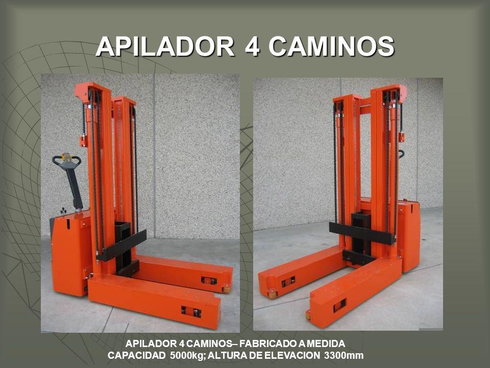APILADOR 4 CAMINOS– FABRICADO A MEDIDA CAPACIDAD 5000kg; ALTURA DE ELEVACION 3300mm