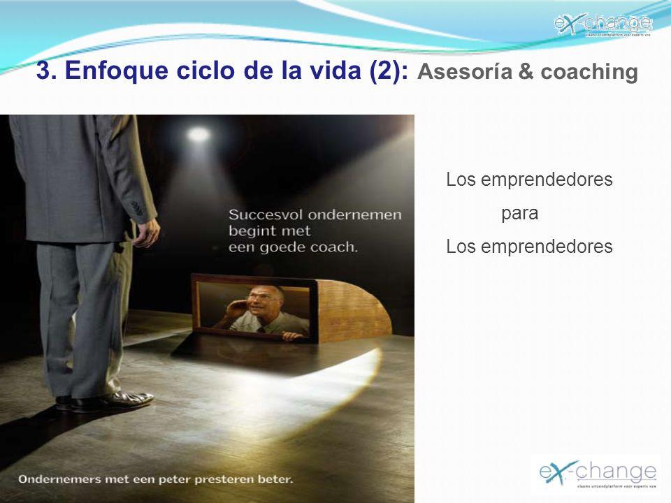 3. Enfoque ciclo de la vida (2): Asesoría & coaching Los emprendedores para Los emprendedores