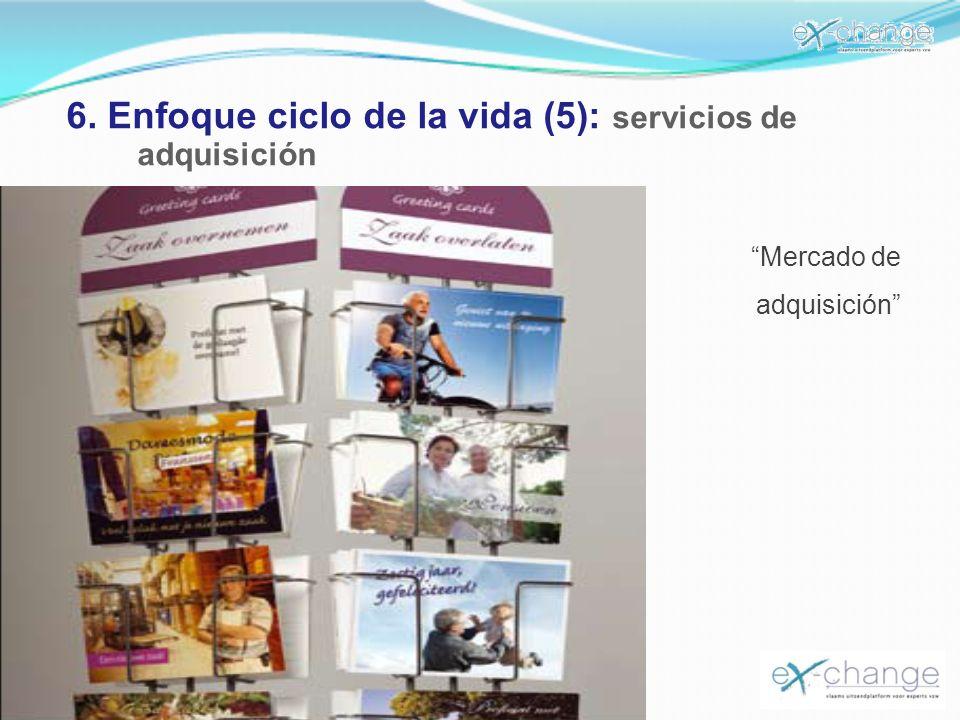 6. Enfoque ciclo de la vida (5): servicios de adquisición Mercado de adquisición
