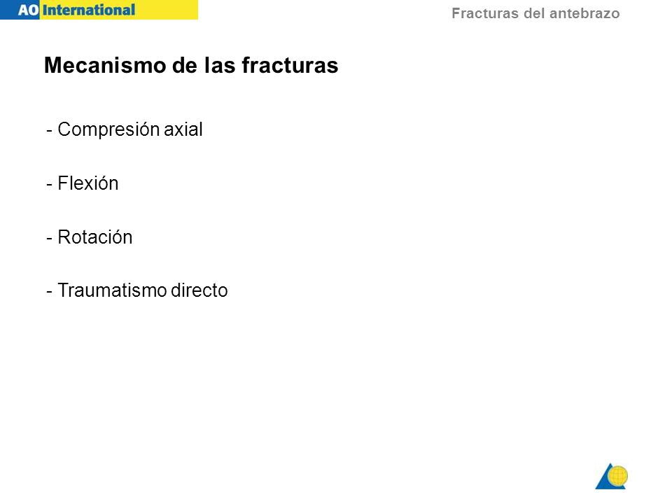 Fracturas del antebrazo Investigaciones - Rx.
