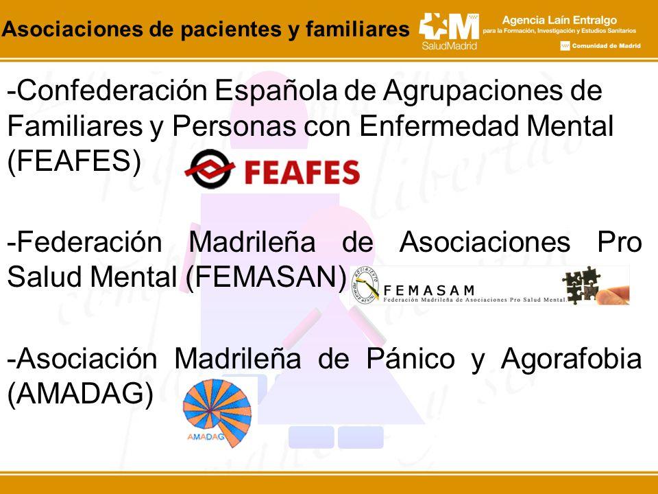 -Confederación Española de Agrupaciones de Familiares y Personas con Enfermedad Mental (FEAFES) -Federación Madrileña de Asociaciones Pro Salud Mental