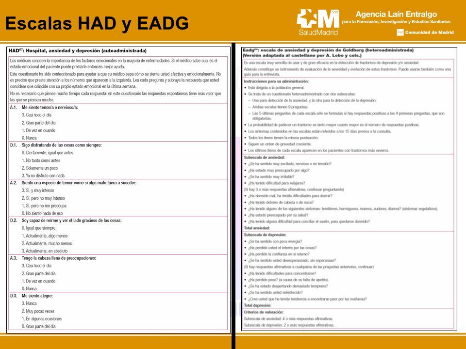 Escalas HAD y EADG