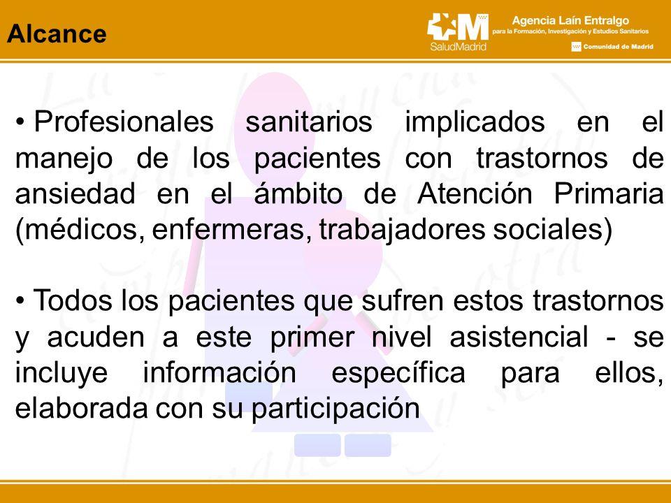 Profesionales sanitarios implicados en el manejo de los pacientes con trastornos de ansiedad en el ámbito de Atención Primaria (médicos, enfermeras, t