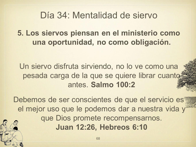 Día 34: Mentalidad de siervo 5.