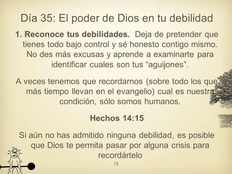 Día 35: El poder de Dios en tu debilidad 1.Reconoce tus debilidades.