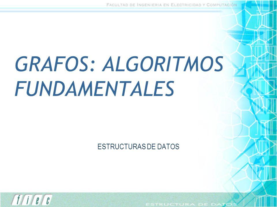 GRAFOS: ALGORITMOS FUNDAMENTALES ESTRUCTURAS DE DATOS