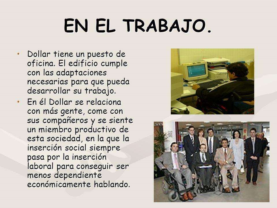EN EL TRABAJO. Dollar tiene un puesto de oficina.