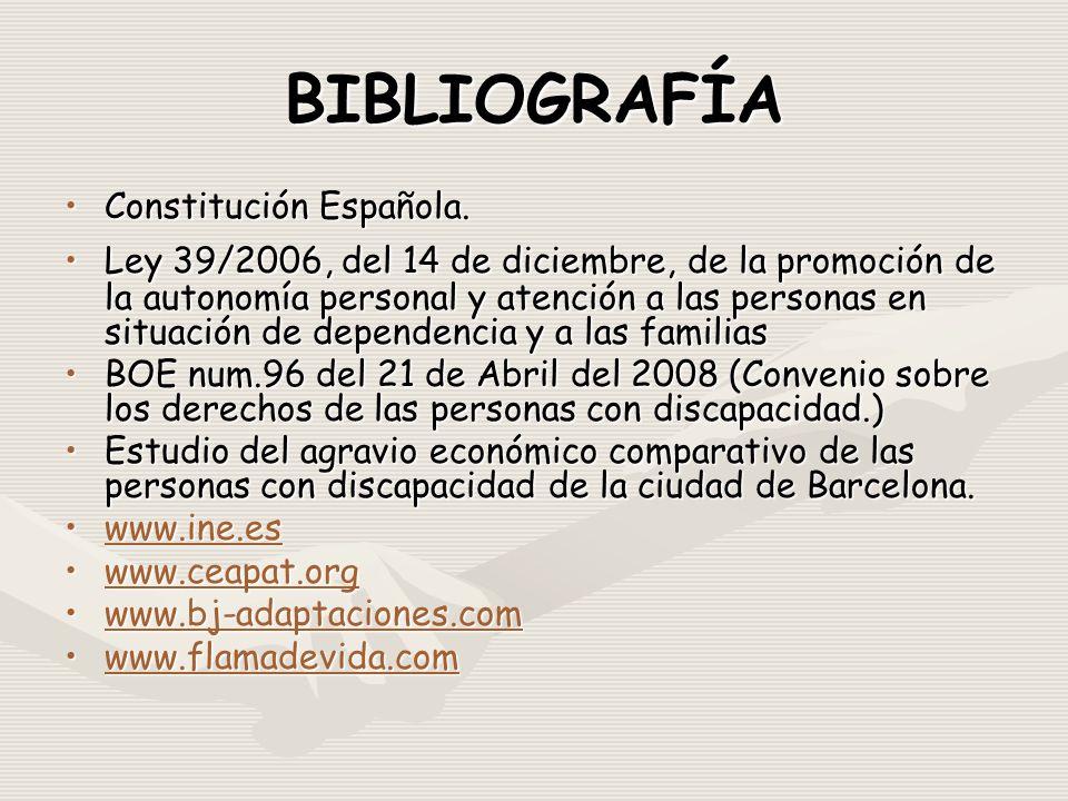 BIBLIOGRAFÍA Constitución Española.Constitución Española.