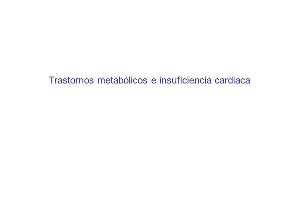 Trastornos metabólicos e insuficiencia cardiaca